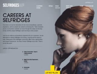 selfridgescareers.co.uk screenshot