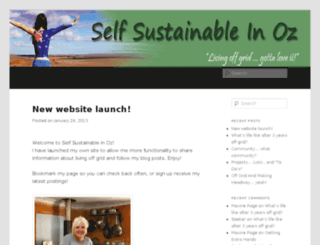 selfsustainableinoz.com screenshot
