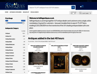 sellingantiques.co.uk screenshot
