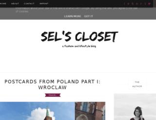 selscloset.blogspot.co.at screenshot