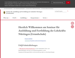 seminar-nuertingen.de screenshot