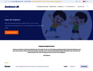 seminarer.dk screenshot