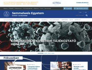semmelweis-egyetem.hu screenshot