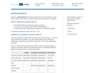 senamuzika.lt screenshot