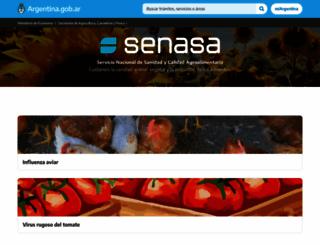 senasa.gov.ar screenshot