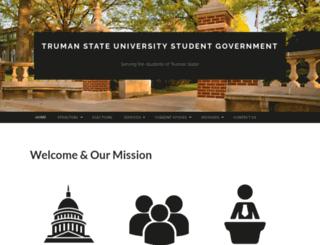 senate.truman.edu screenshot