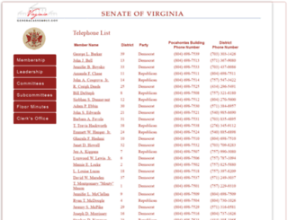 senate.virginia.gov screenshot