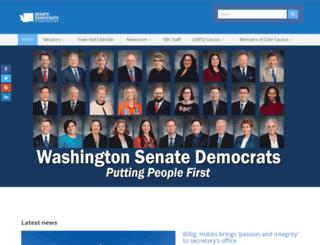 senatedemocrats.wa.gov screenshot