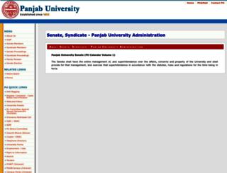 senatesyndicate.puchd.ac.in screenshot