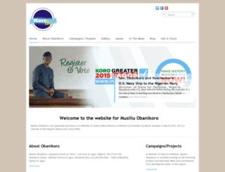 senatorobanikoro.com screenshot