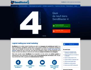 sendblaster.fr screenshot