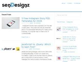 sendesignz.com screenshot