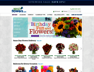 sendflowers.com screenshot