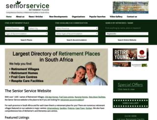 seniorservice.co.za screenshot