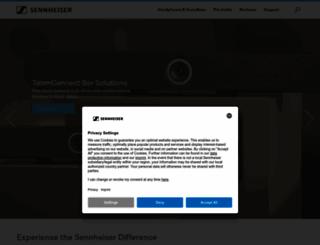 sennheiser.co.uk screenshot