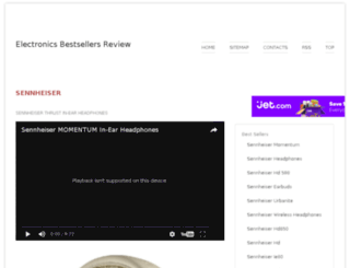 sennheiser.electronicsonlinebestsellers.com screenshot