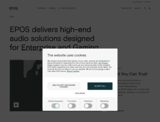sennheisercommunications.com screenshot