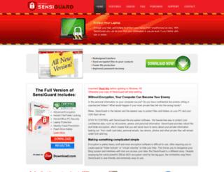 sensiguard.com screenshot