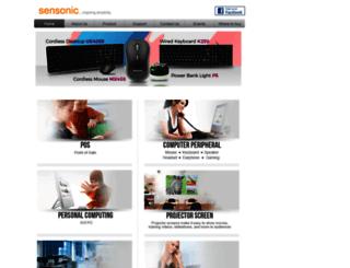 sensonic-global.com screenshot