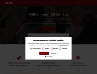 sensus.se screenshot