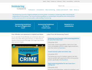 sentencingcouncil.judiciary.gov.uk screenshot