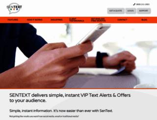 sentextsolutions.com screenshot