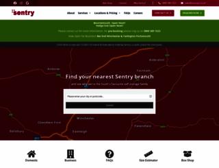 sentryselfstorage.co.uk screenshot