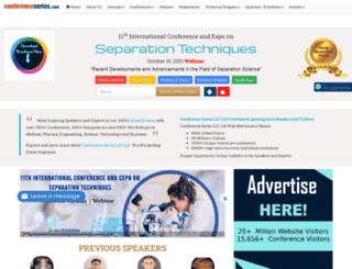 separationtechniques.conferenceseries.com screenshot