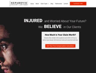 separoviclawyers.com screenshot