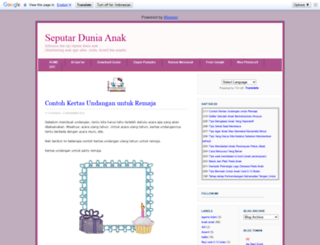 seputarduniaanak.blogspot.com screenshot