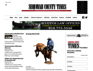 sequoyahcountytimes.com screenshot