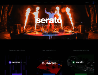 serato.com screenshot