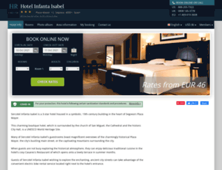 sercotel-infanta-isabel.h-rez.com screenshot