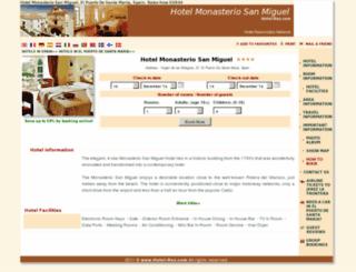 sercotel-monasteriomiguel.h-rez.com screenshot