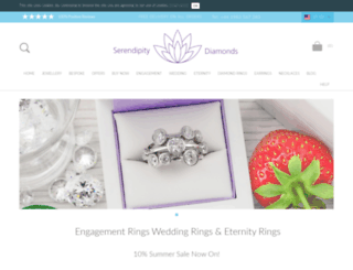 serendipitydiamonds.co.uk screenshot