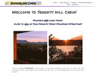 serenityhillcabin.com screenshot