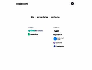 sergioescote.com screenshot