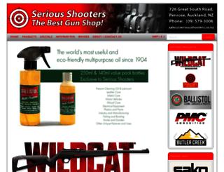 seriousshooters.co.nz screenshot