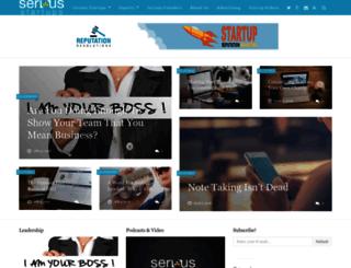 seriousstartups.com screenshot