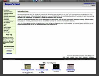 serpents-hand.wikidot.com screenshot