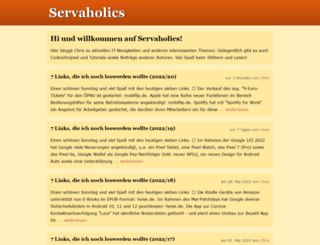 servaholics.de screenshot