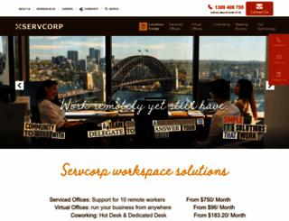 servcorp.com.au screenshot