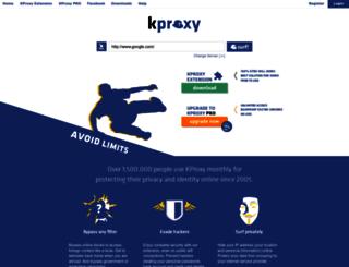 server.kproxy.com screenshot