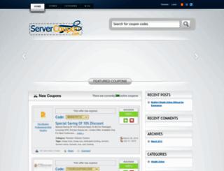 servercoupon.com screenshot