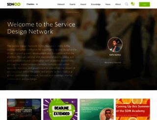 service-design-network.org screenshot