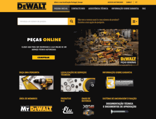 service.dewalt.pt screenshot