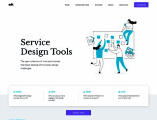 servicedesigntools.org screenshot