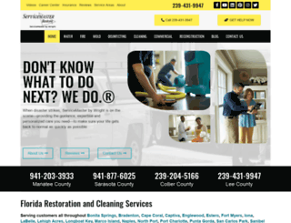 servicemasterrestorations.com screenshot