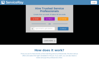 serviceray.com screenshot