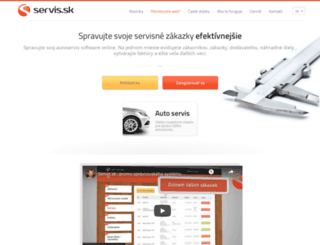 servis.sk screenshot